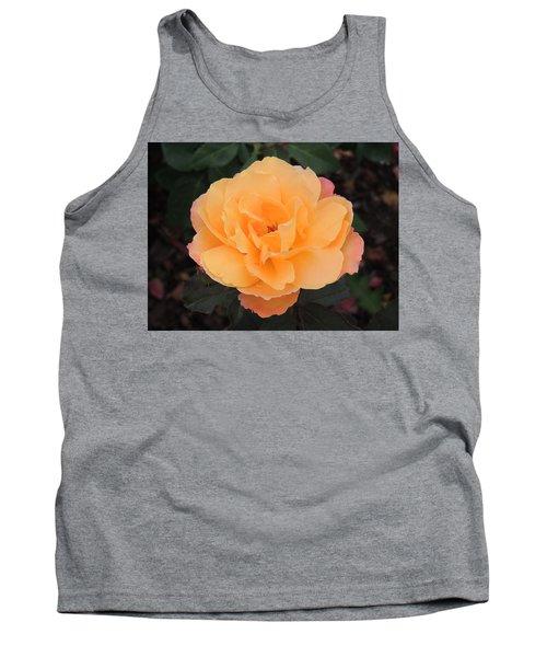 Velvety Orange Rose Tank Top