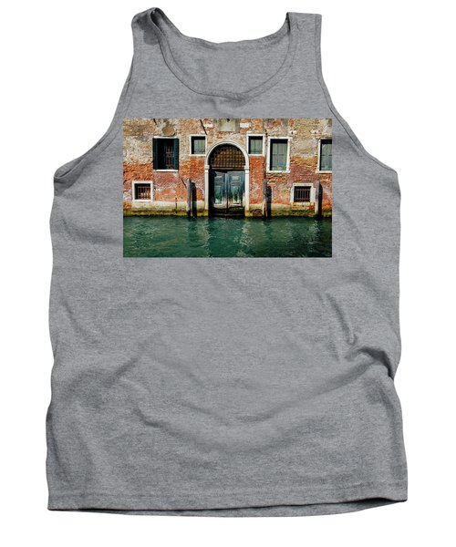 Venetian House On Canal Tank Top