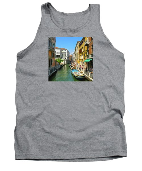 Tank Top featuring the photograph Venetian Sunshine by Anne Kotan
