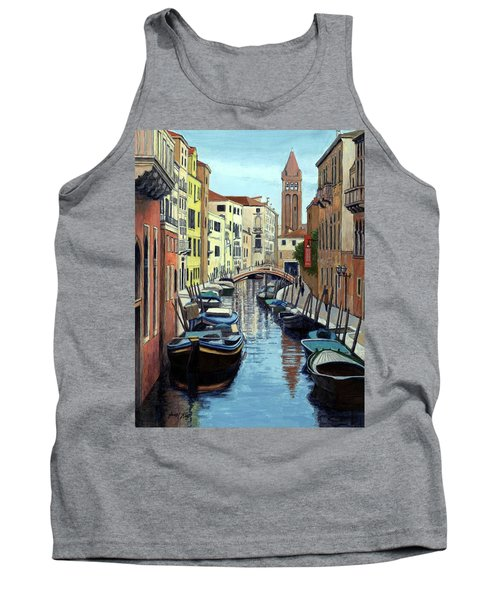Venice Canal Reflections Tank Top by Janet King