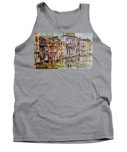 Tank Top featuring the painting Venice Impression II by Xueling Zou