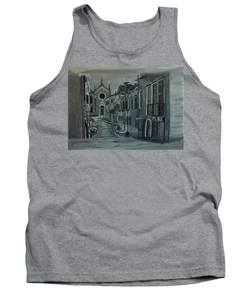 Venice In Grey And White Tank Top by Rod Jellison