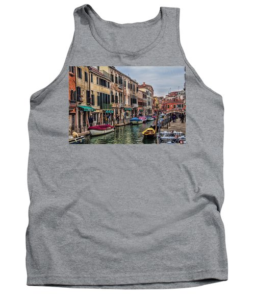 Tank Top featuring the photograph Venice Street Scenes by Shirley Mangini
