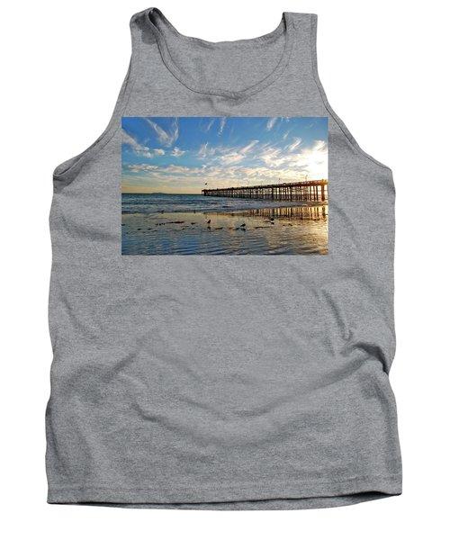 Ventura Pier At Sunset Tank Top