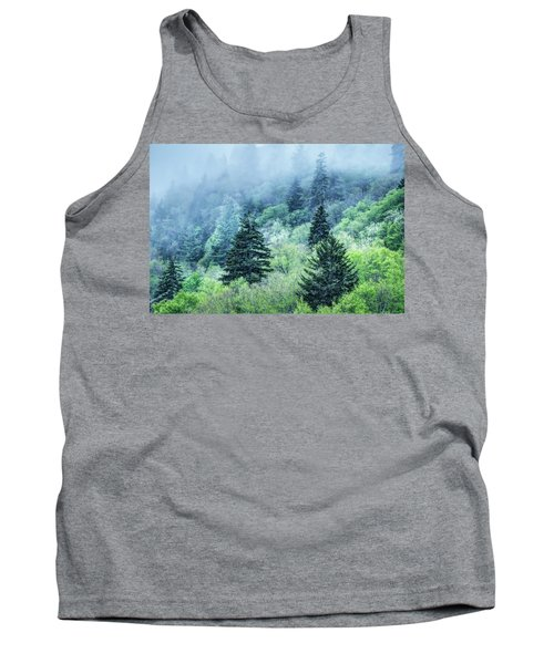 Verdant Forest In The Great Smoky Mountains Tank Top