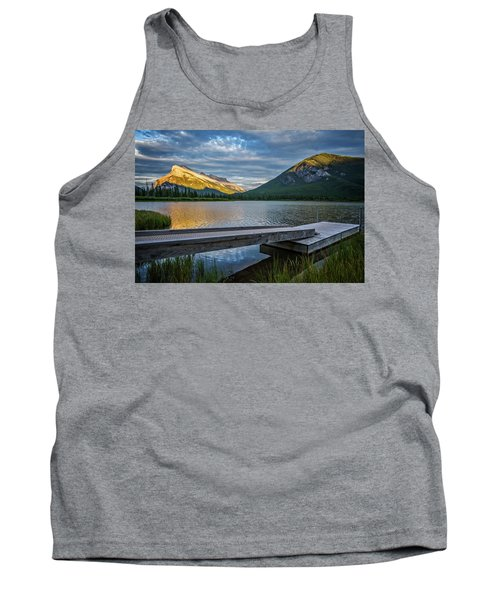 Vermillion Lakes And Mt Rundle Sunset Tank Top