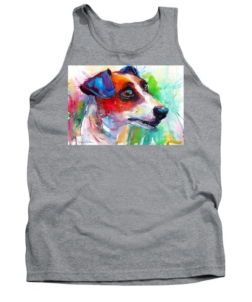 Vibrant Jack Russell Terrier Dog Tank Top