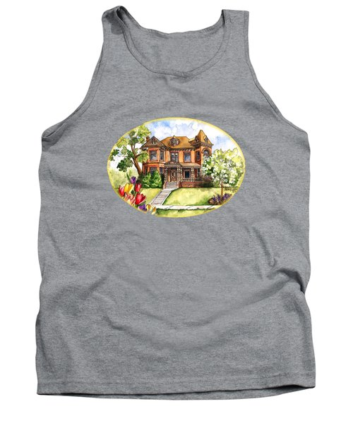 Victorian Mansion In The Spring Tank Top