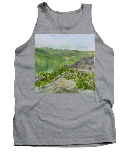 View From Craggy Gardens - A Watercolor Sketch  Tank Top