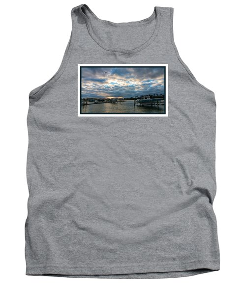 View From Marina Bay Tank Top by Dorothy Cunningham