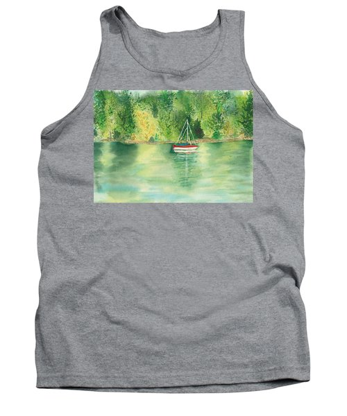 Tank Top featuring the painting View From Millbay Ferry by Vicki  Housel
