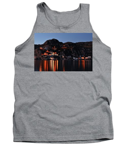 View From The Harbor St Johns Newfoundland Canada At Dusk Tank Top