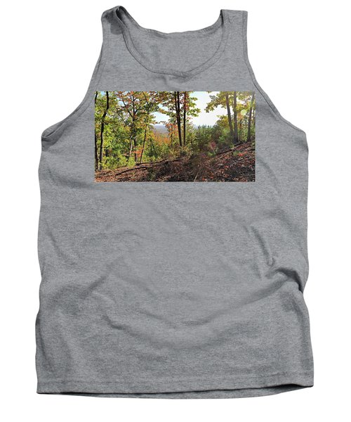 View From The Top Of Brown's Mountain Trail, Kings Mountain Stat Tank Top