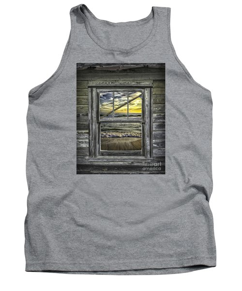 View From Weathered Beach Cottage Tank Top