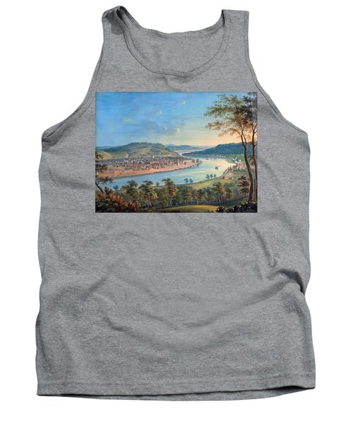 Tank Top featuring the painting View Of Cincinnati From Covington by John Caspar Wild
