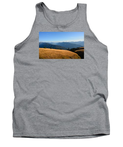 View Of Olympics From Hurricane Ridge Tank Top