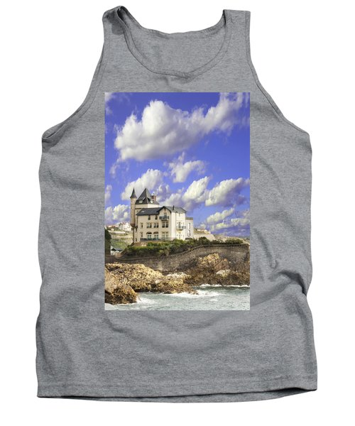 View Of The Beautiful Castle On The Bay Of Biscay Of The Atlantic Ocean Tank Top