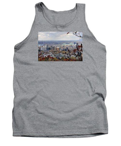View Of The Jacques Cartier Bridge Tank Top by Reb Frost