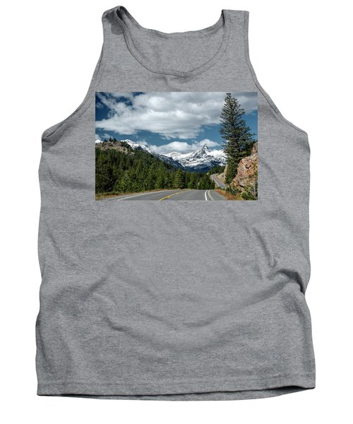 View Of The Pilot Peak From Highway 212 Tank Top