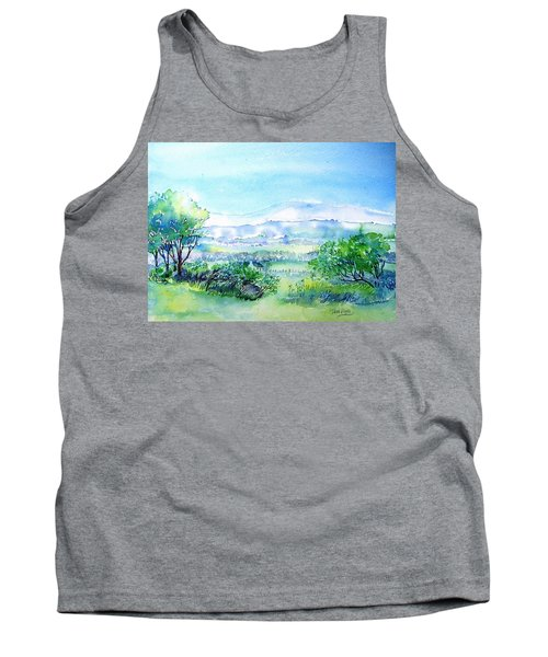 View Through The Gap,wicklow  Tank Top by Trudi Doyle
