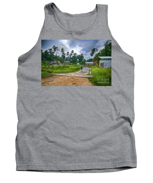 Tank Top featuring the photograph Village Scene by Charuhas Images