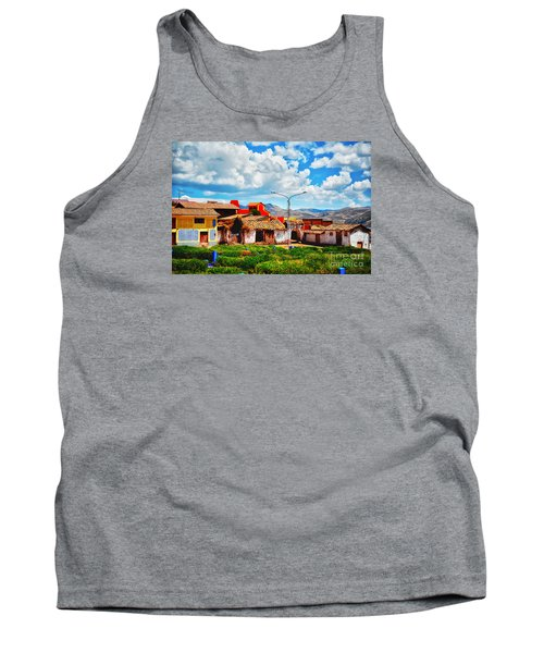 Village Up High In Peruvian Mountains Tank Top