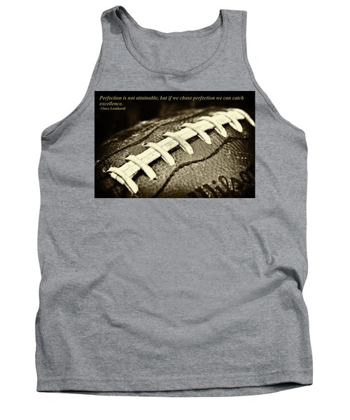 Vince Lombardi Perfection Quote Tank Top