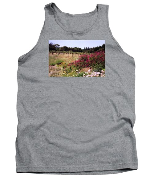 vines and flower SF peninsula Tank Top by Ted Pollard