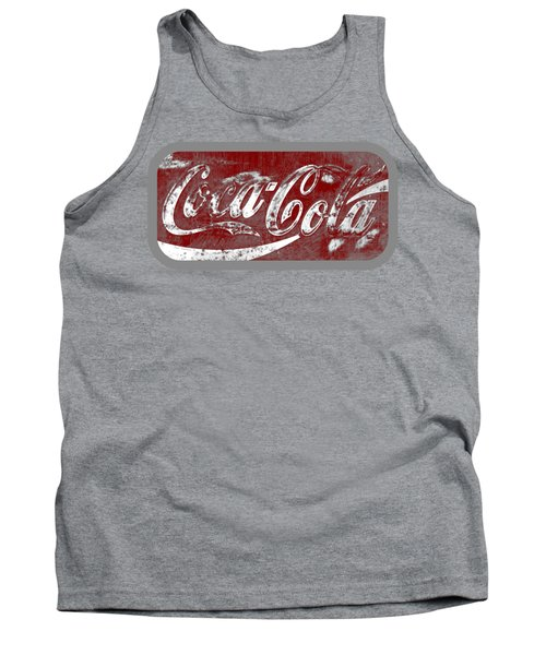 Coca Cola Red And White Sign Gray Border With Transparent Background Tank Top