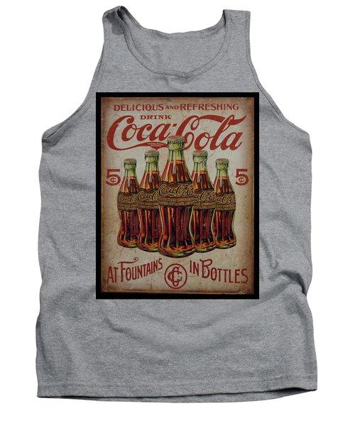 vintage Coca Cola sign Tank Top