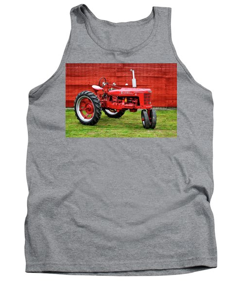 Vintage Farmall Tractor With Barnwood Tank Top