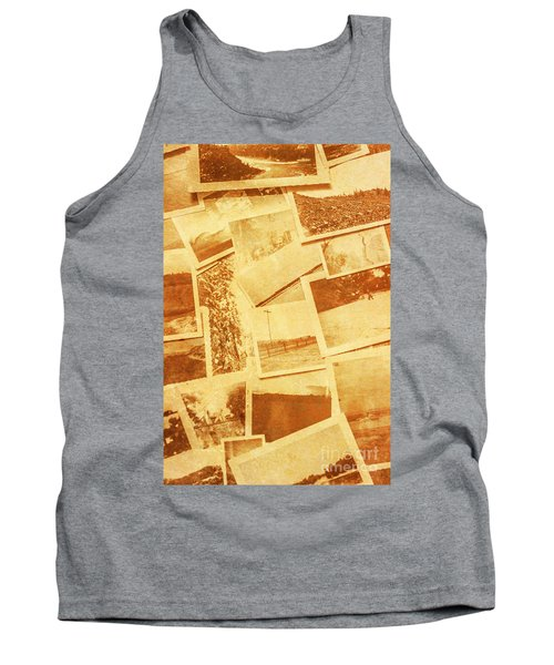 Vintage Image Of Various Photographs On Table  Tank Top