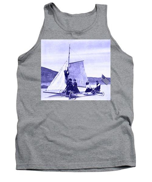 Vintage Ladies And Gentlemen Sail On The Desert Queen Tank Top