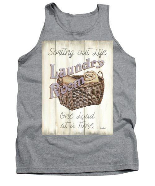 Tank Top featuring the painting Vintage Laundry Room 2 by Debbie DeWitt
