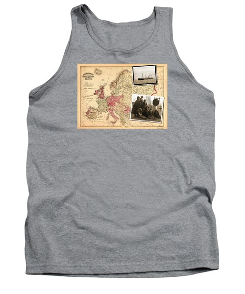 Vintage Map Europe To New York Tank Top