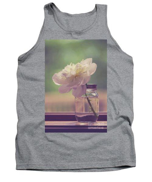 Tank Top featuring the photograph Vintage Peony Flower Still Life by Edward Fielding