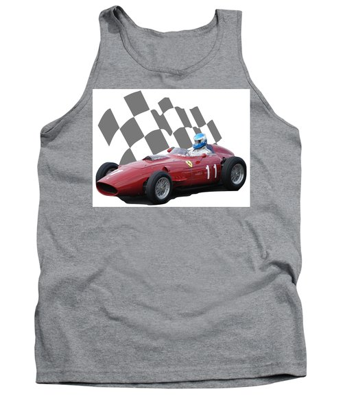 Vintage Racing Car And Flag 2 Tank Top
