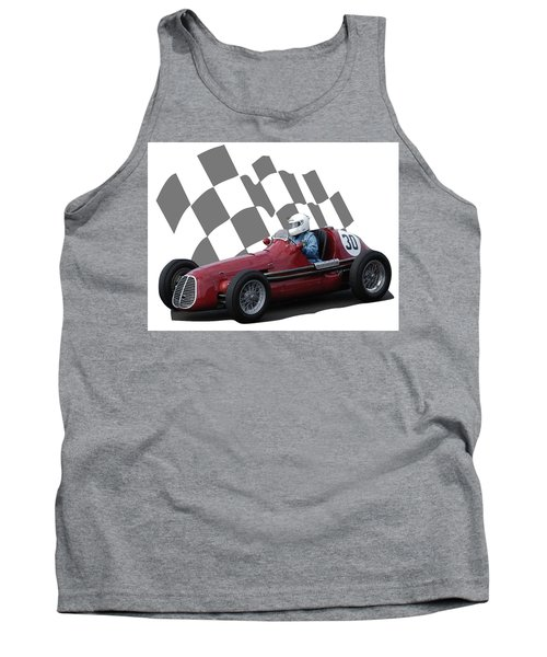 Vintage Racing Car And Flag 6 Tank Top
