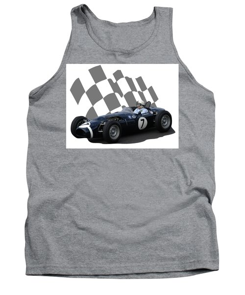 Vintage Racing Car And Flag 8 Tank Top