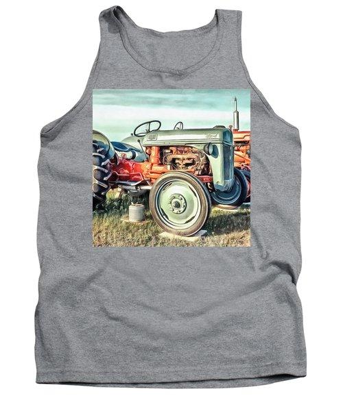 Vintage Tractors Pei Square Tank Top