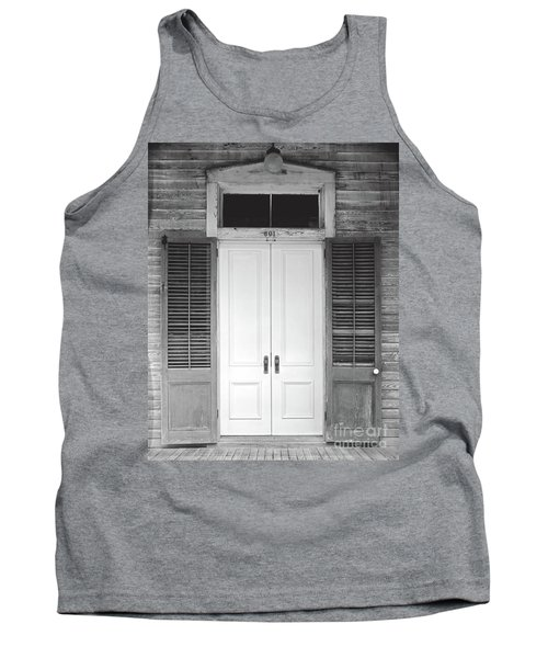 Tank Top featuring the photograph Vintage Tropical Weathered Key West Florida Doorway by John Stephens