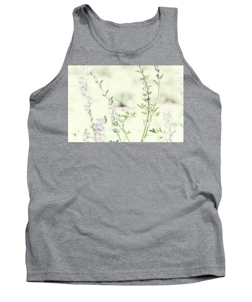 Violet And Green Bloom Tank Top by Amyn Nasser