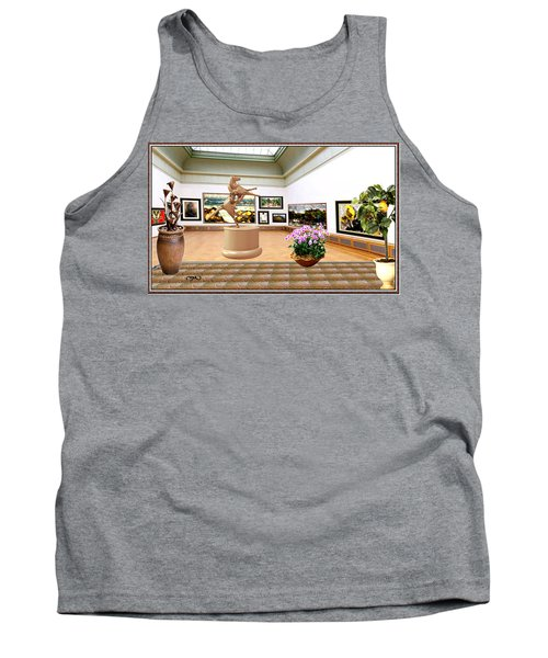 Virtual Exhibition - A Modern Horse Statue Tank Top by Pemaro