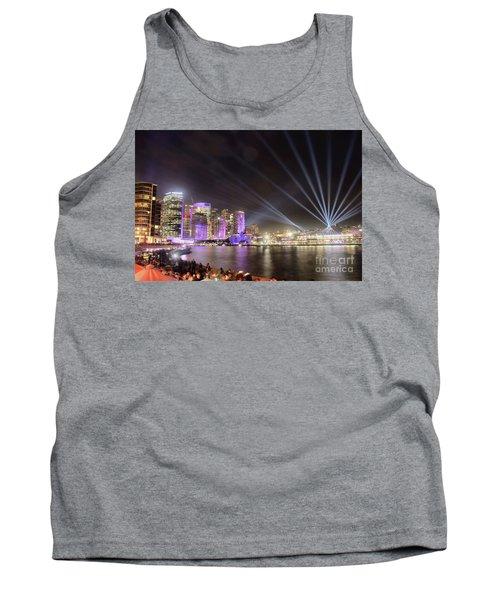 Vivid Sydney Skyline By Kaye Menner Tank Top by Kaye Menner