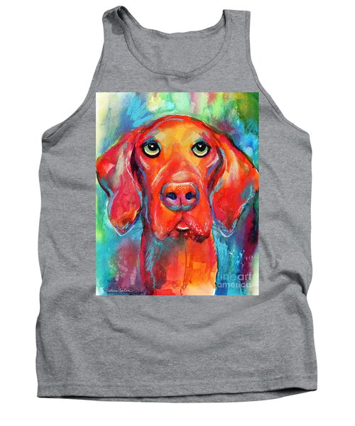 Vizsla Dog Portrait Tank Top