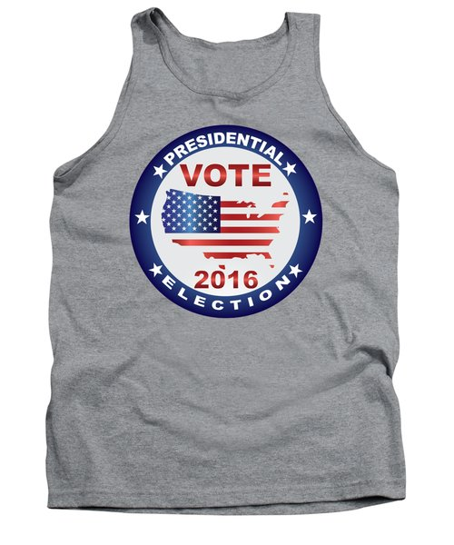 Vote 2016 Usa Presidential Election Button Tank Top