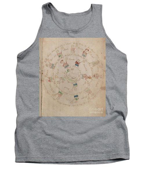 Voynich Manuscript Astro Aries Tank Top