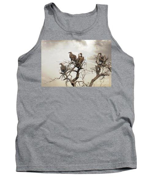 Vultures In A Dead Tree.  Tank Top by Jane Rix