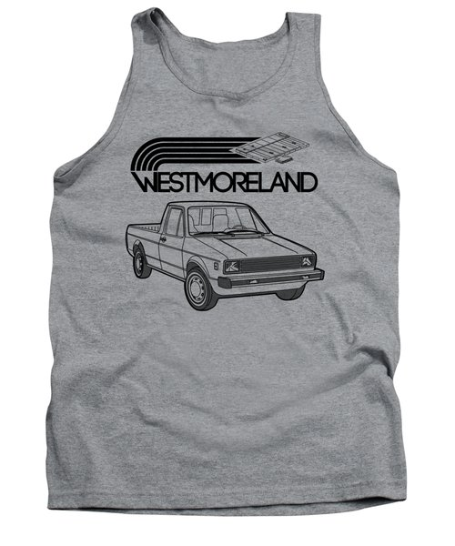 Vw Rabbit Pickup - Westmoreland Theme - Black Tank Top