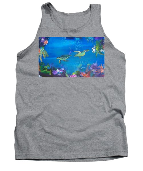 Tank Top featuring the painting Wait For Me by Lyn Olsen